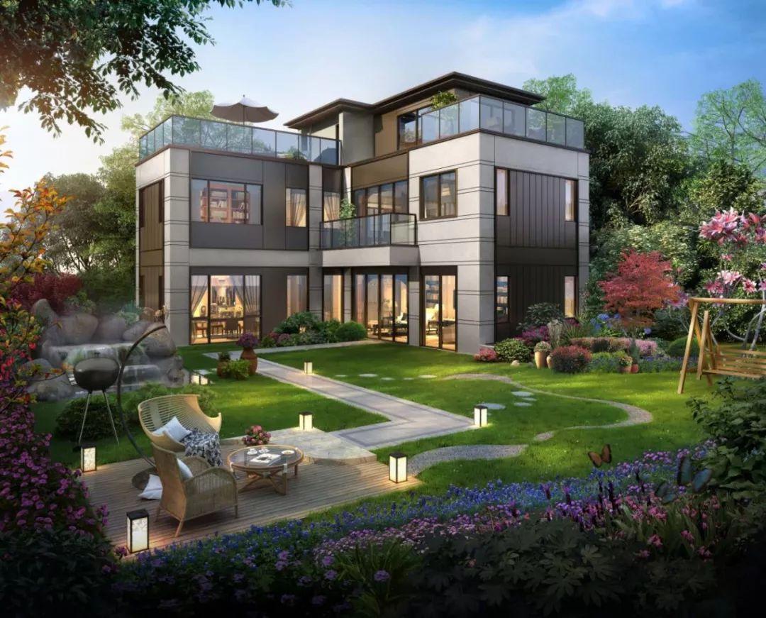嘉兴终于有一家申请专利的别墅了,全边套,l型合院,一线湖景图片